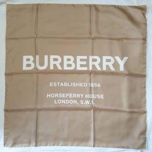 Burberry Square Silk Shawl - Beige